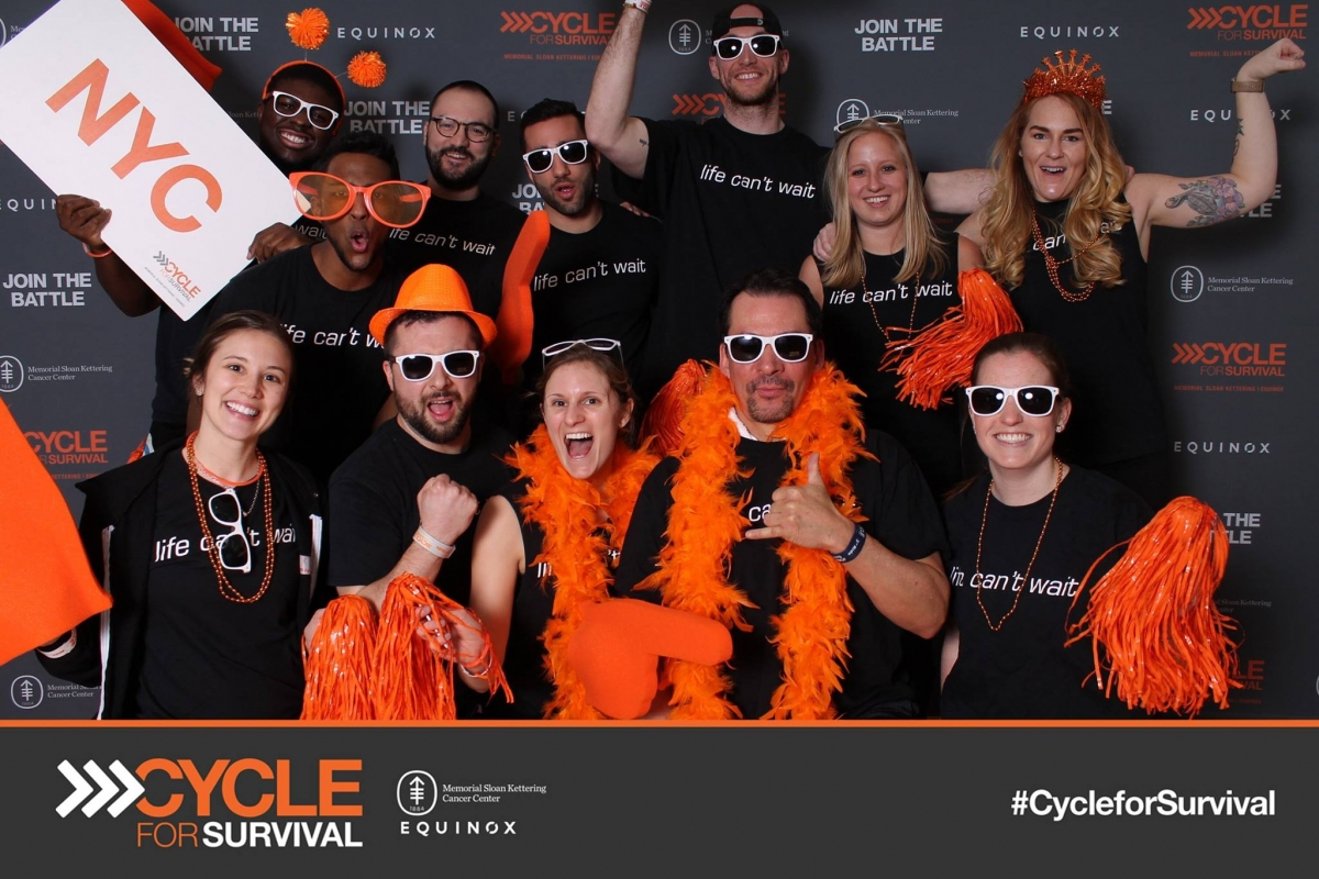 NYC Physical Therapists have a fun time raising money for cancer research at NYC's Cycle for Survival