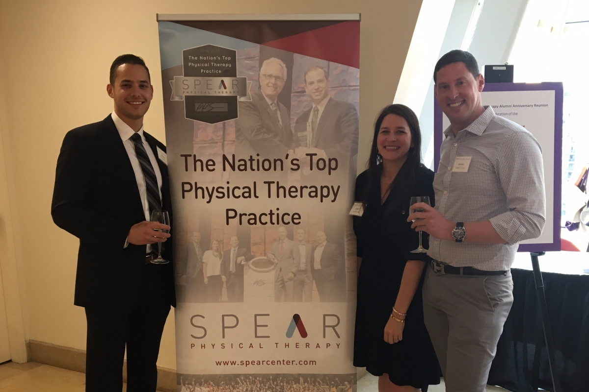 SPEAR Physical Therapy team members celebrate the New York University Doctorate of Physical Therapy's 90th Anniversary
