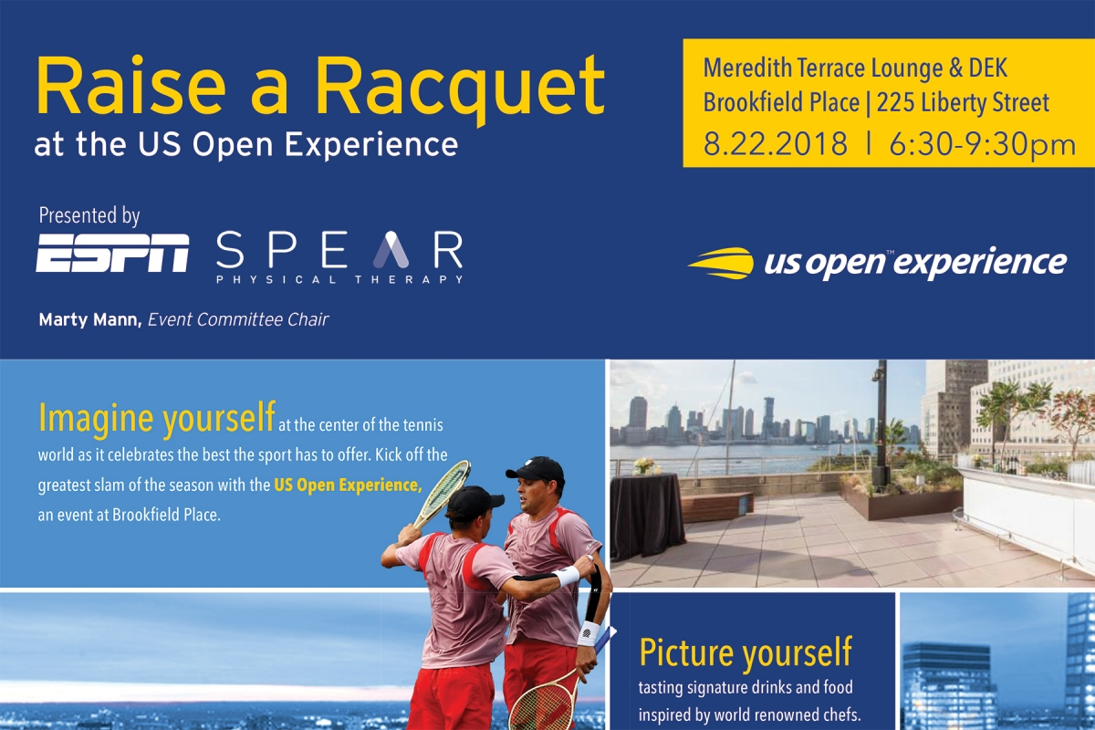 SPEAR is providing a free PT clinic to 25 young under-resourced tennis players at the 2018 US Open Experience