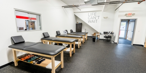 Massage tables for PT treatment