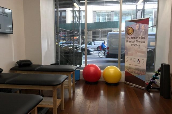 Treatment Room View of SPEAR Physical Therapy NYC's Park Place Tribeca Facility