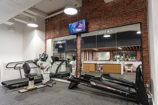 spear clinic with treadmill and rowing machines