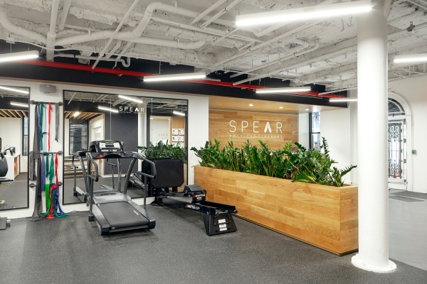 gym space and cardio machines at SPEAR's newly opened facility