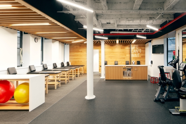 Exercising and training area for patients at SPEAR's newest Brooklyn location