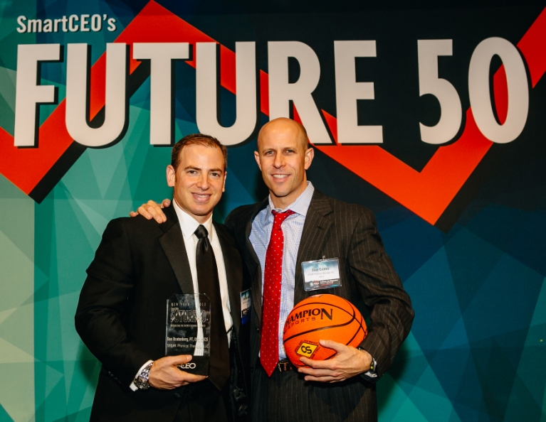 Dan and Dave with Smart CEO trophy