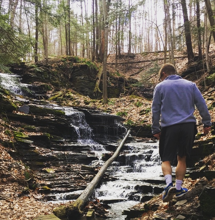 Jared Schiffer, physical therapist, hiking in nature