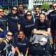 A dozen of SPEAR's Physical Therapists pose after walking across NYC's Brooklyn Bridge to raise funds for Arthritis research