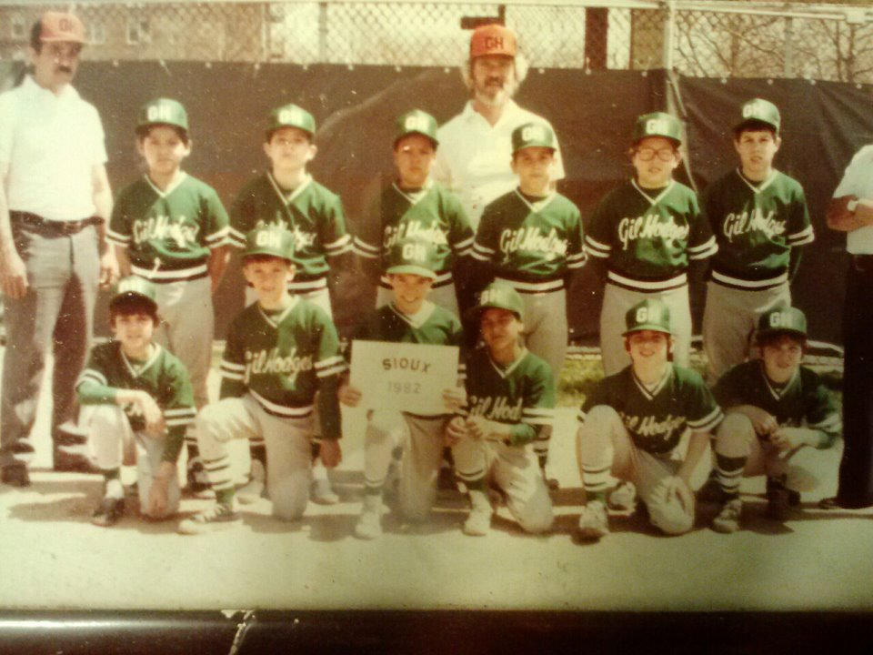 Historic Group photo: Dan (1st row, 2nd on the right) at age 10 playing for Gil Hodges Little League in Brooklyn.