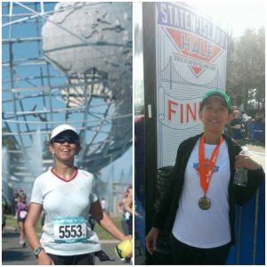 Zarina Mustapha at marathon