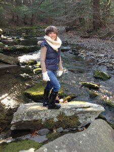 Jennifer Smith in river