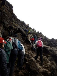 Group climbing Kilimanjaro Summit