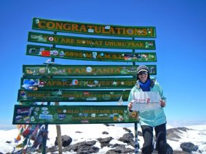 Teresa Randolph at Kilimanjaro Summit
