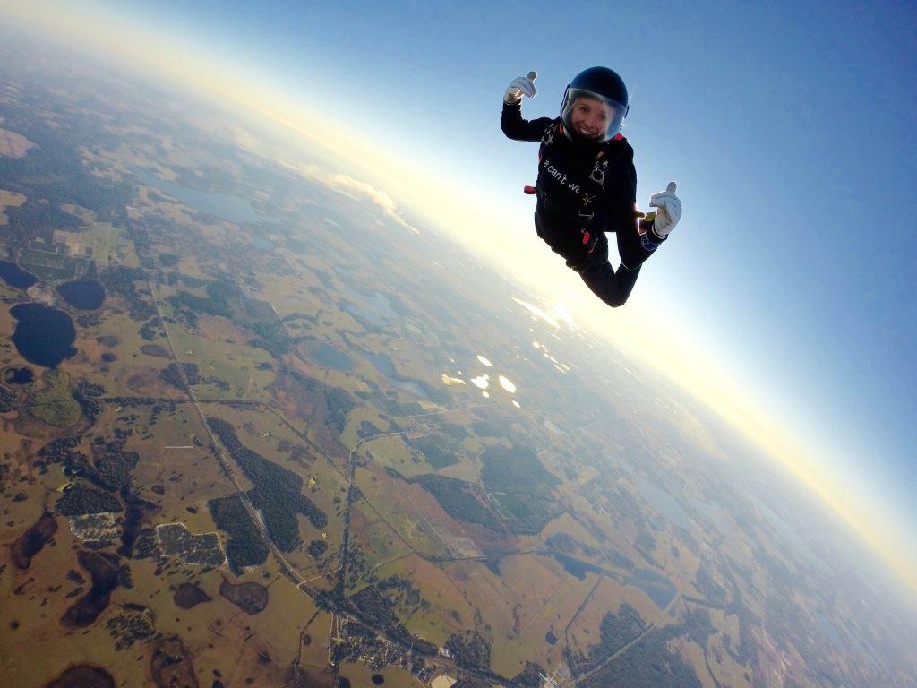skydiving Luz patient