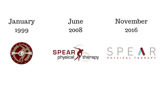 SPEAR Physical Therapy Logo over time