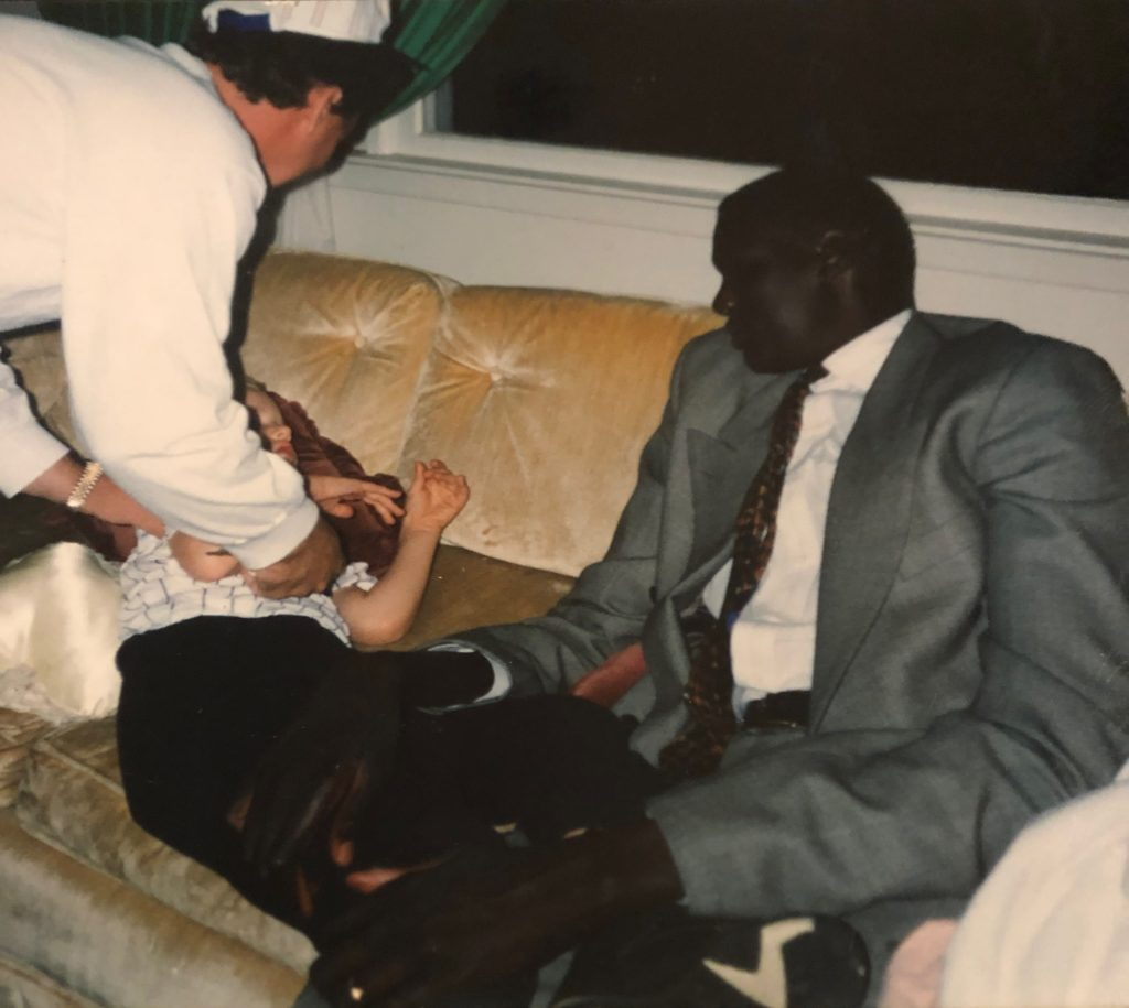 SPEAR Physical Therapist Jimmy Olayos and NBA basketball star Manute Bol