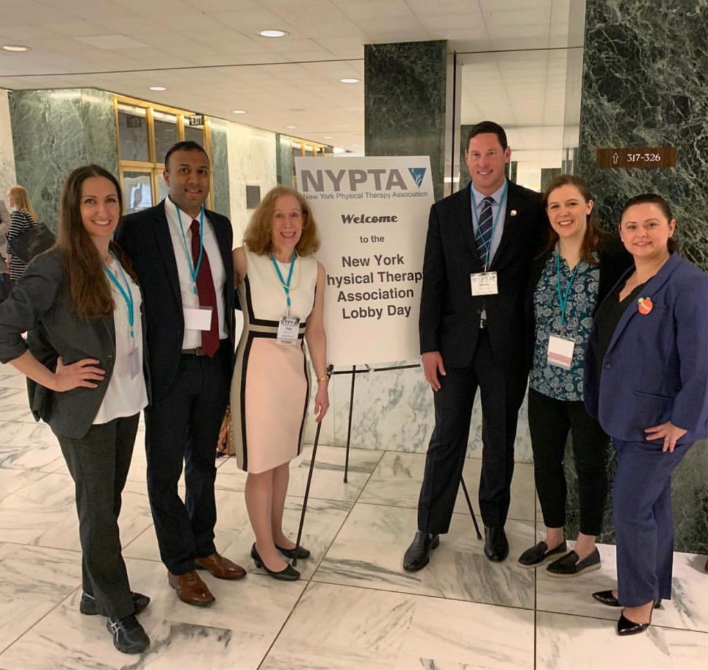Group of physical therapists campaigning for advocacy at the New York Physical Therapy Association Lobby Day