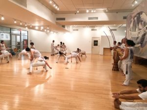 The ABADA-Capoeira Academy performs at their Batizado 2019 festival.