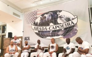 ABADA Capoeira leaders host a panel discussion.