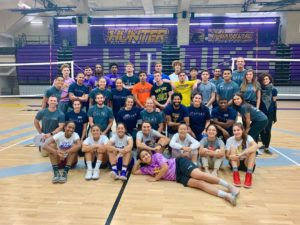 Group picture of the SPEAR Hunter College Basketball screening for ACL injury prevention.
