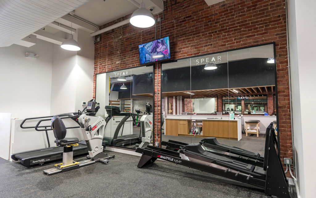 rowing machines, treadmill and other various cardio equipment at PT practice