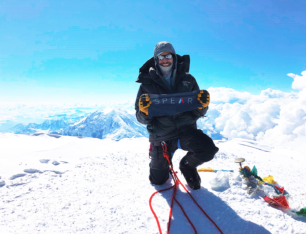 Physical therapy patient at the top of Denali Mountain!